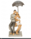 Summer Shower Family Sitting on a Heart Figurine From the Shudehill Range 65511